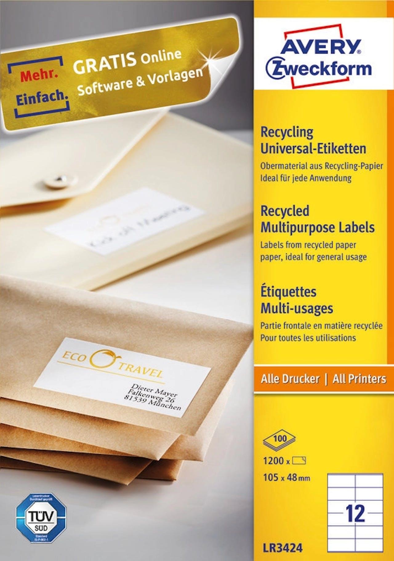 Recycling-Universaletiketten