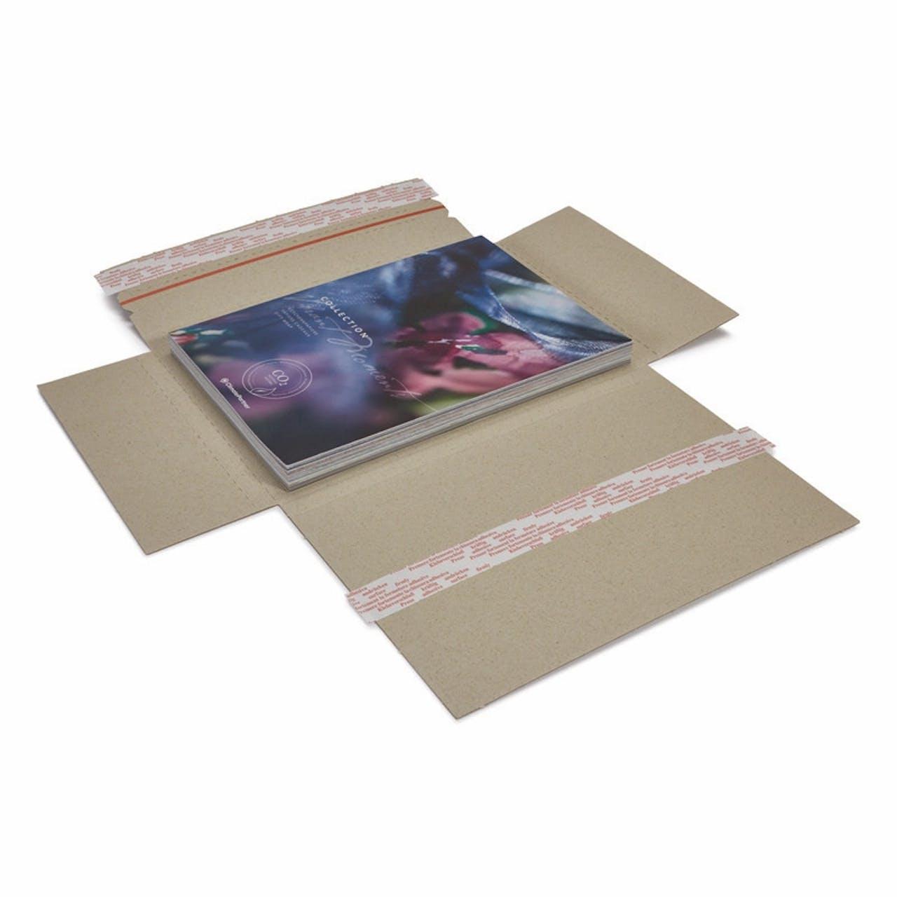 Graspapier-Flachpack terra, selbstklebend