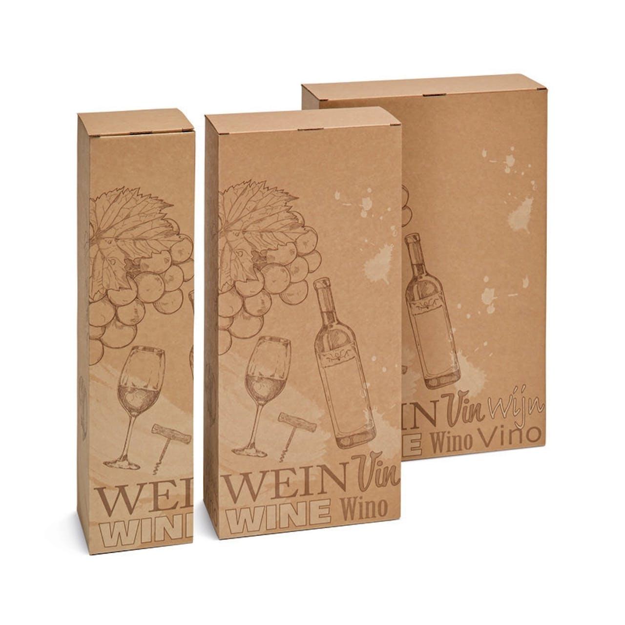 Flaschen-Geschenkfaltschachtel, Wein, VAR: fsw3