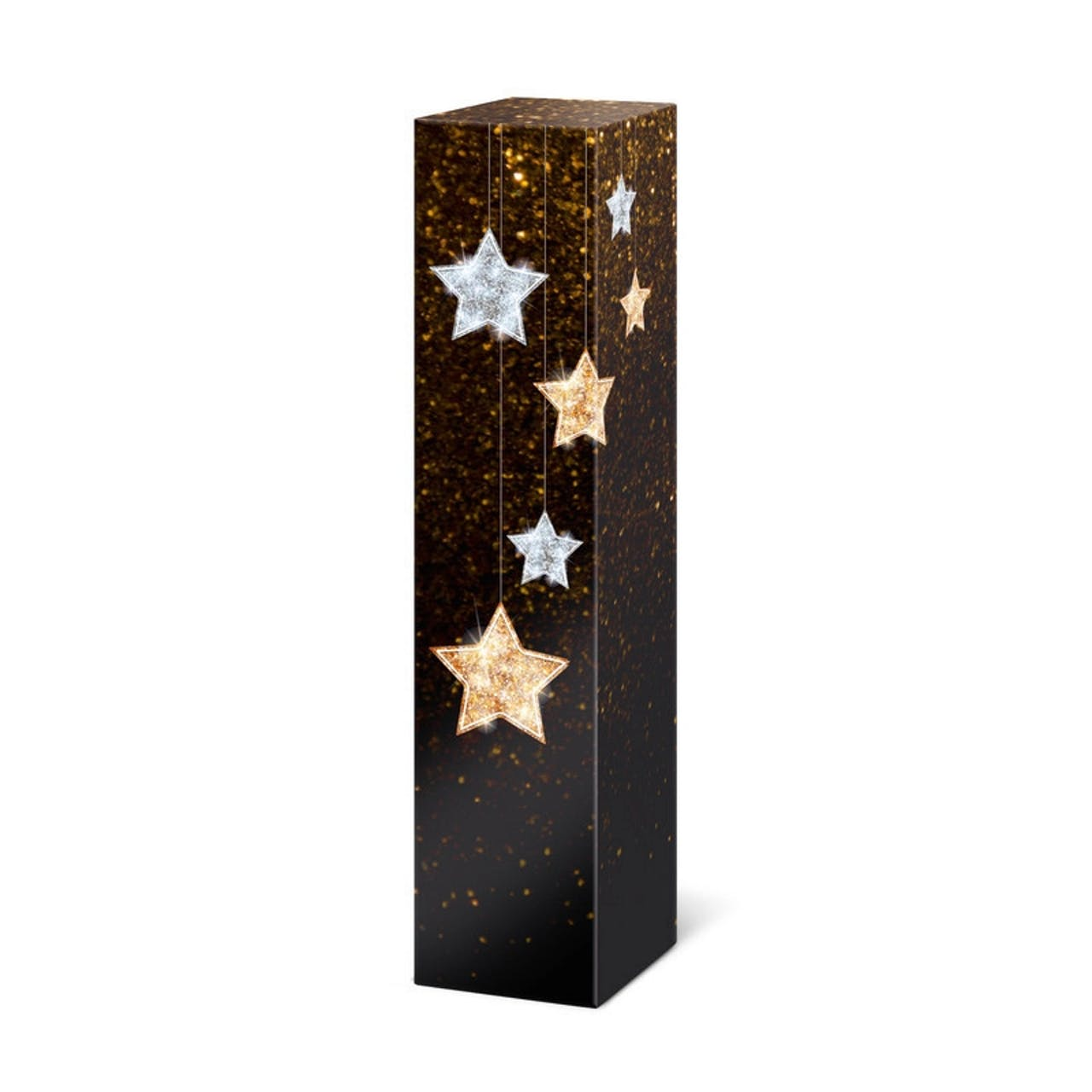 Flaschen-Geschenkfaltschachtel, Sterne, VAR: fsst3