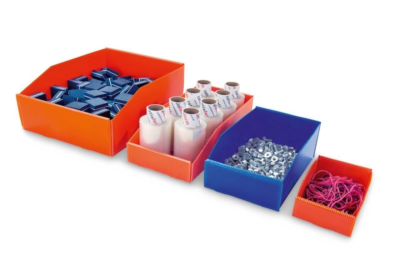 Faltbarer Sichtlagerkasten aus Kunststoff
