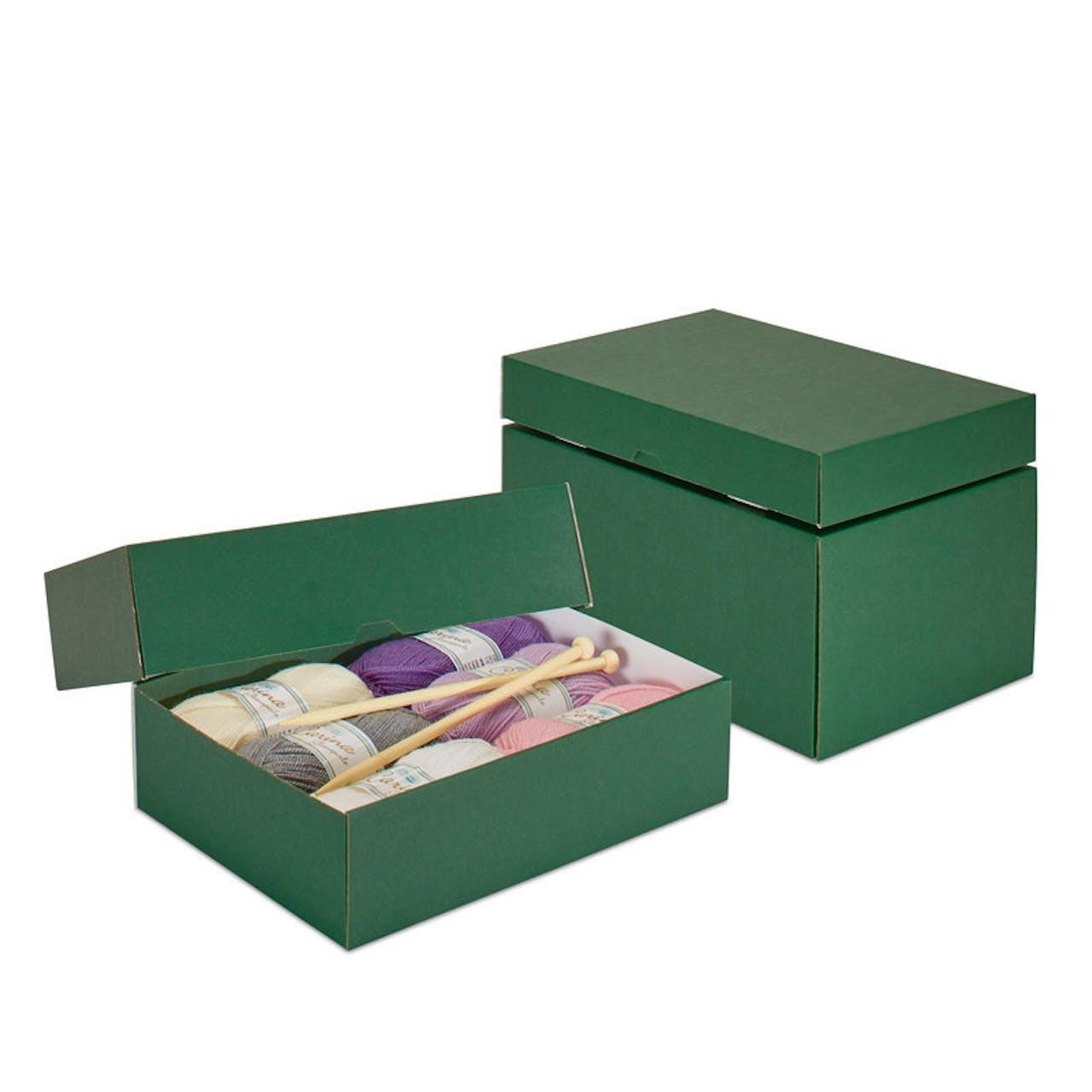 Stülpdeckelkarton dunkelgrün, VAR: 194-45