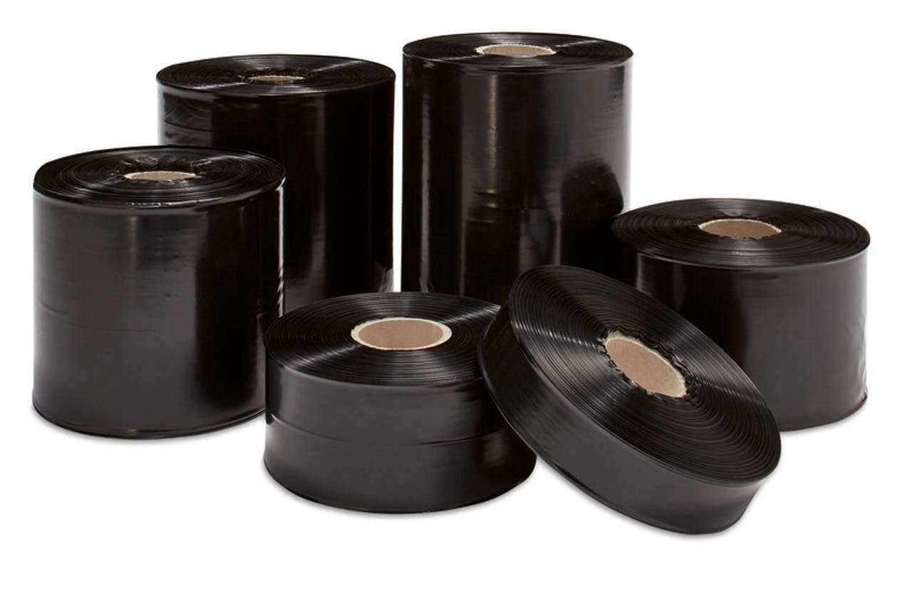 Schwarze Schlauchfolie, 100 µ