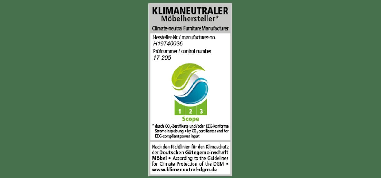Klimaneutrale Hersteller