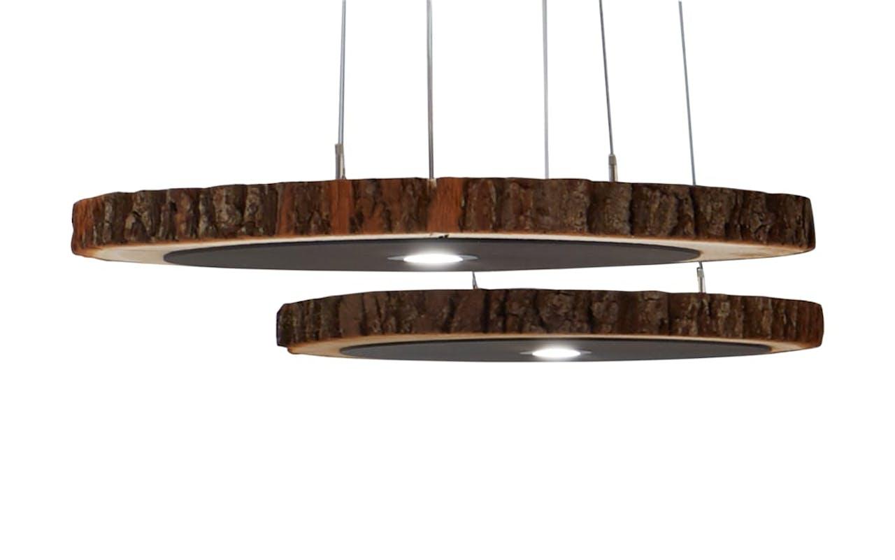 LED-Pendelleuchte Runa aus massiver Kerneiche