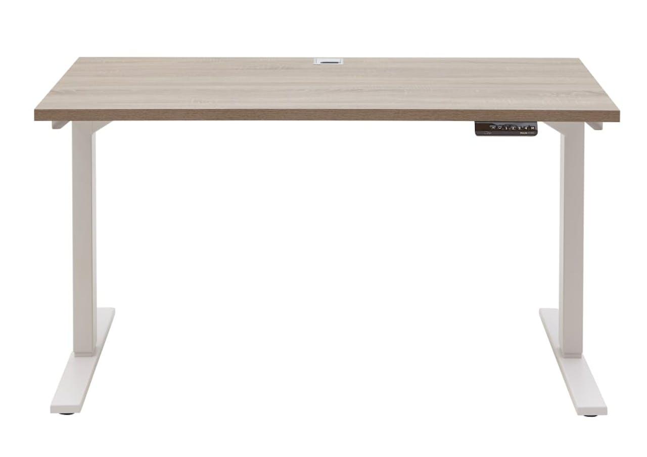Schreibtisch 7001 in Eiche Trüffel sägerau Nachbildung, ca. 135 cm breit