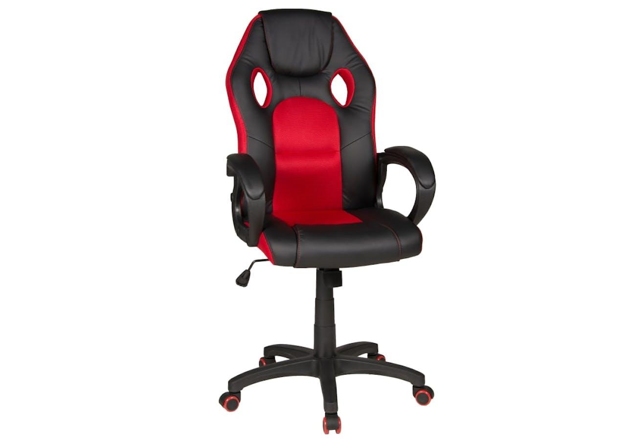 Chefsessel Riley in schwarz-rot