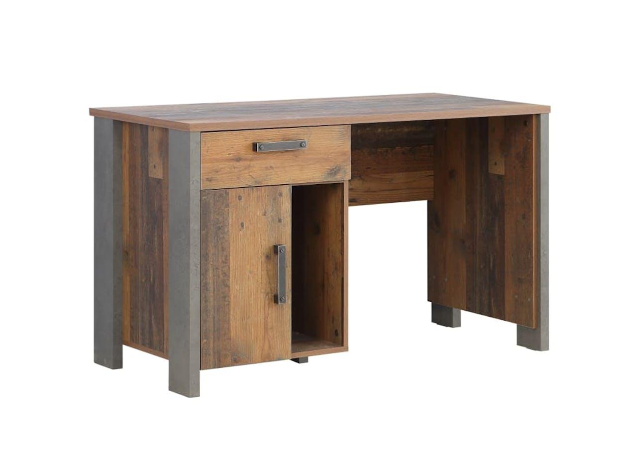 Schreibtisch Clif in Old Wood-Nachbildung-betonfarbig