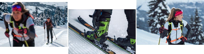 Dank präparierter Pisten immer top Schneeverhältnisse beim Speed-Skitouring