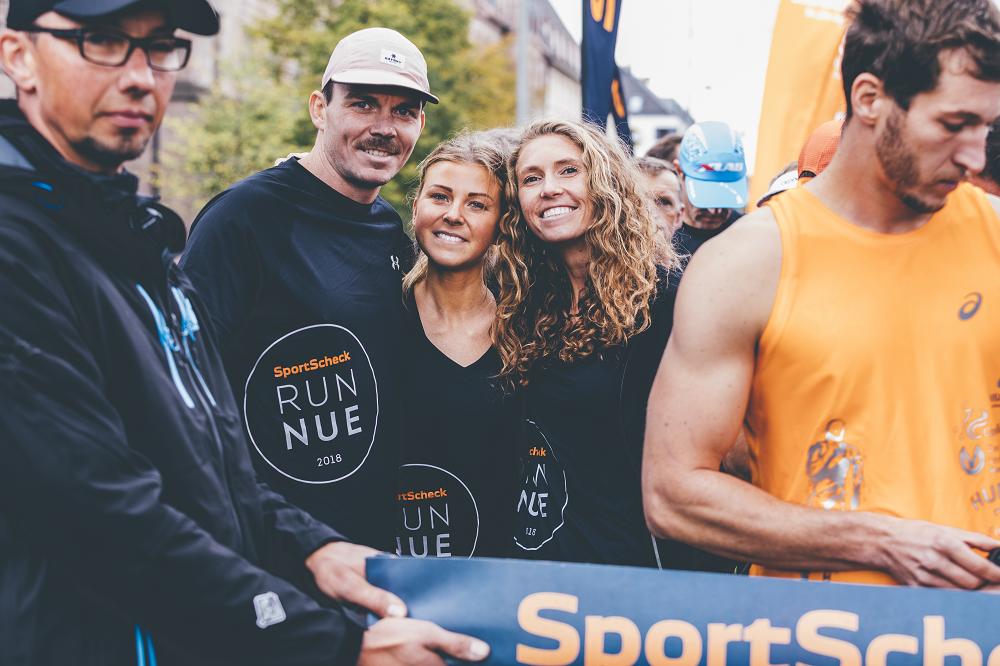 Kurz vorm Startschuss beim Nürnberger SportScheck Run