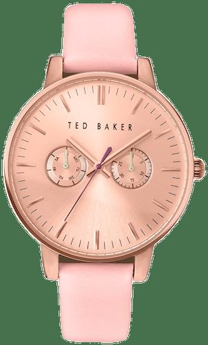 Cette montre TED BAKER se compose d'un Boîtier Rond de 42x48mm et d'un bracelet en Cuir Rose