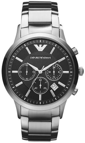 Cette montre EMPORIO ARMANI se compose d'un Boîtier Rond de 43 mm et d'un bracelet en Acier Gris