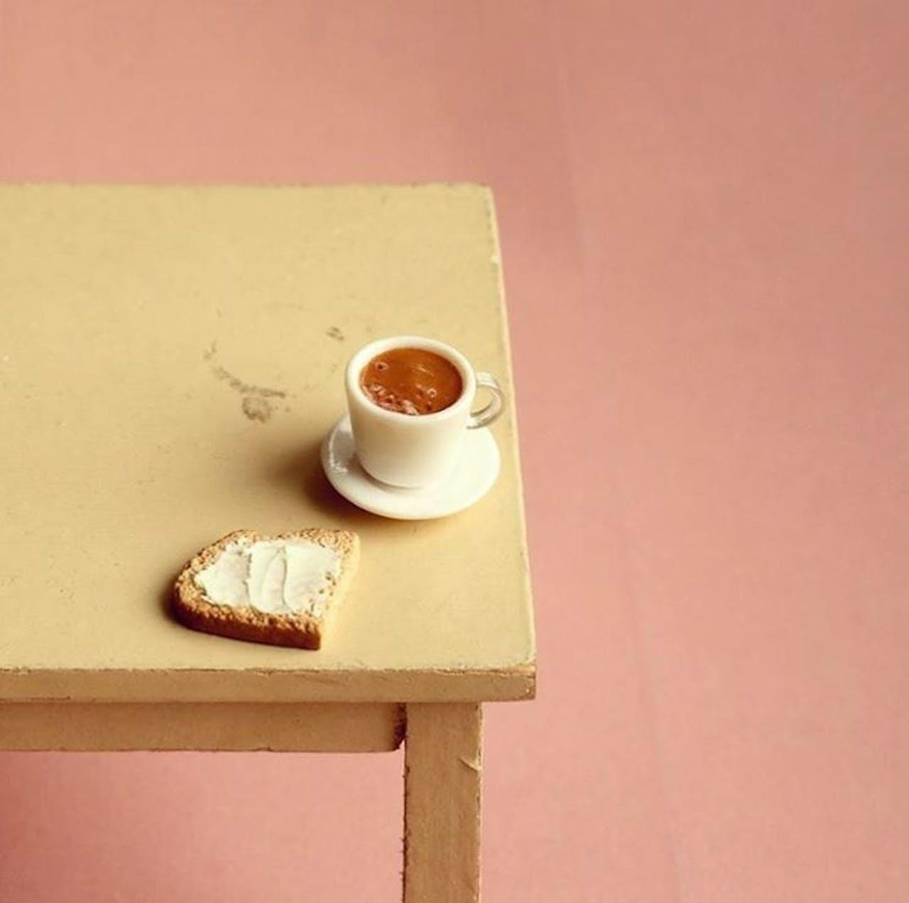 Miniaturen von Kamilla Kleinschmidt (Minischmidtblog) - Kaffee und Brot