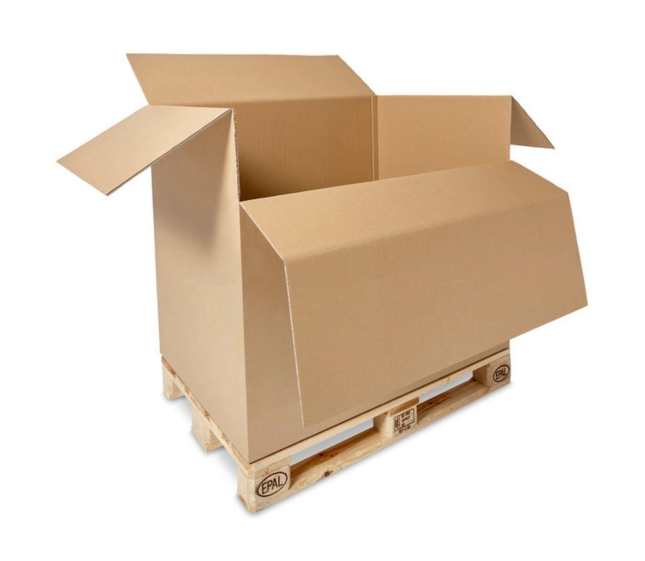Caisse carton sur palette ECONOMY