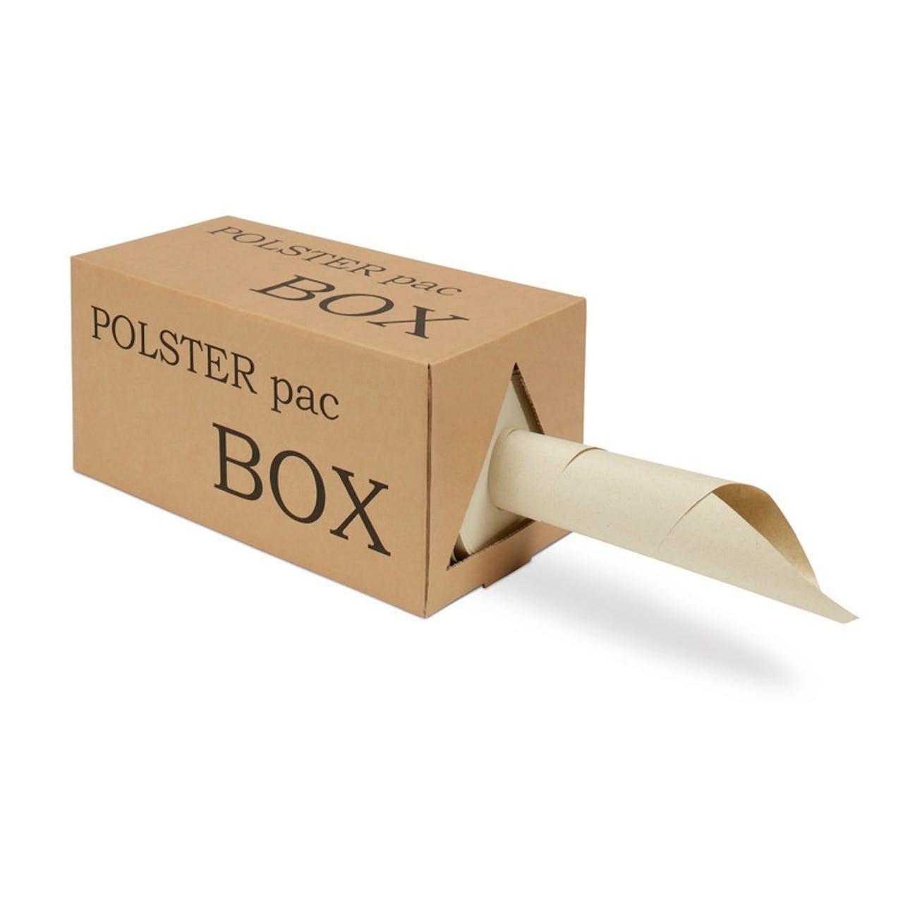 Papier d'emballage à base d'herbe dans boîte distributrice