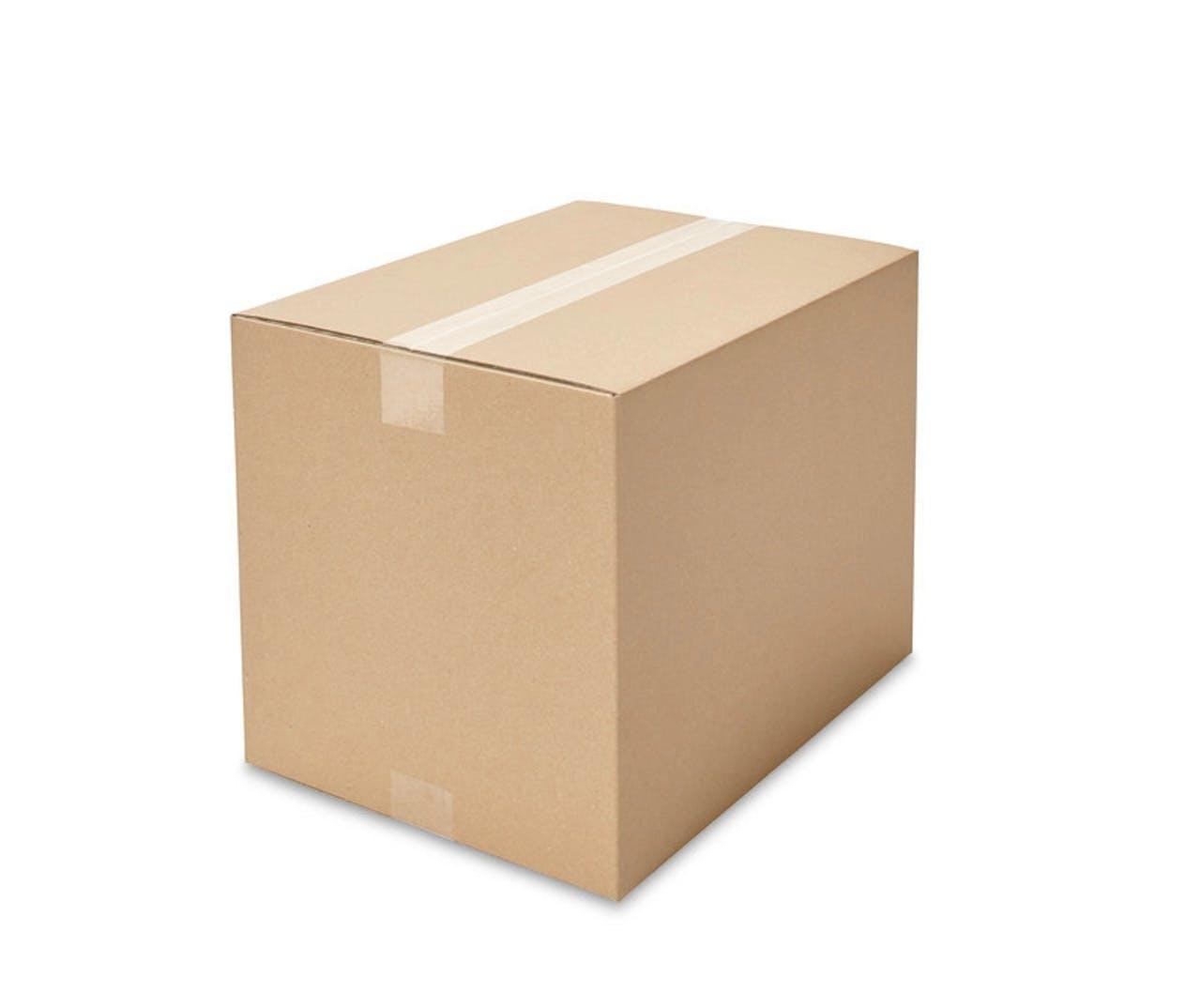 Caisses pliantes carton ondulé ECONOMY, 350à 399mm de longueur, Var: ekz103