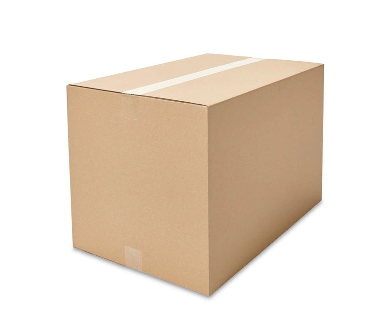 Caisses pliantes carton ondulé ECONOMY, 450à 499mm de longueur, Var: ekz110