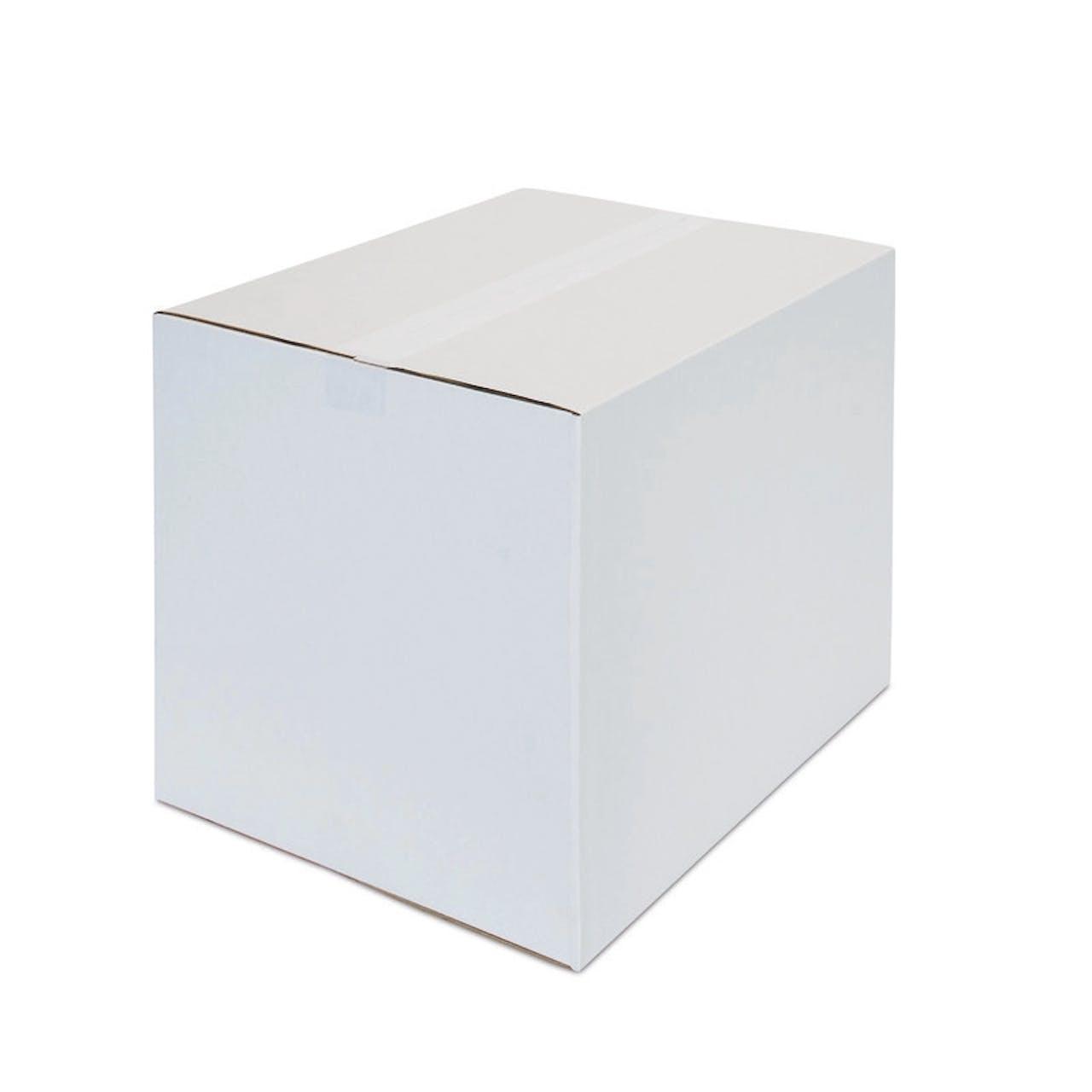 Caisses carton ondulé pliantes ECONOMY, blanches