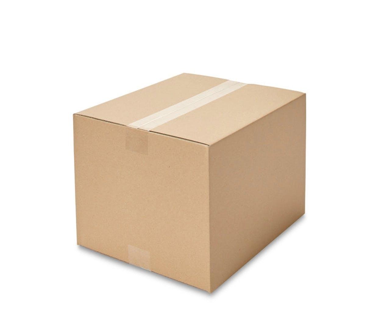Caisses pliantes carton ondulé ECONOMY, 300à 349mm de longueur, Var: ekz100
