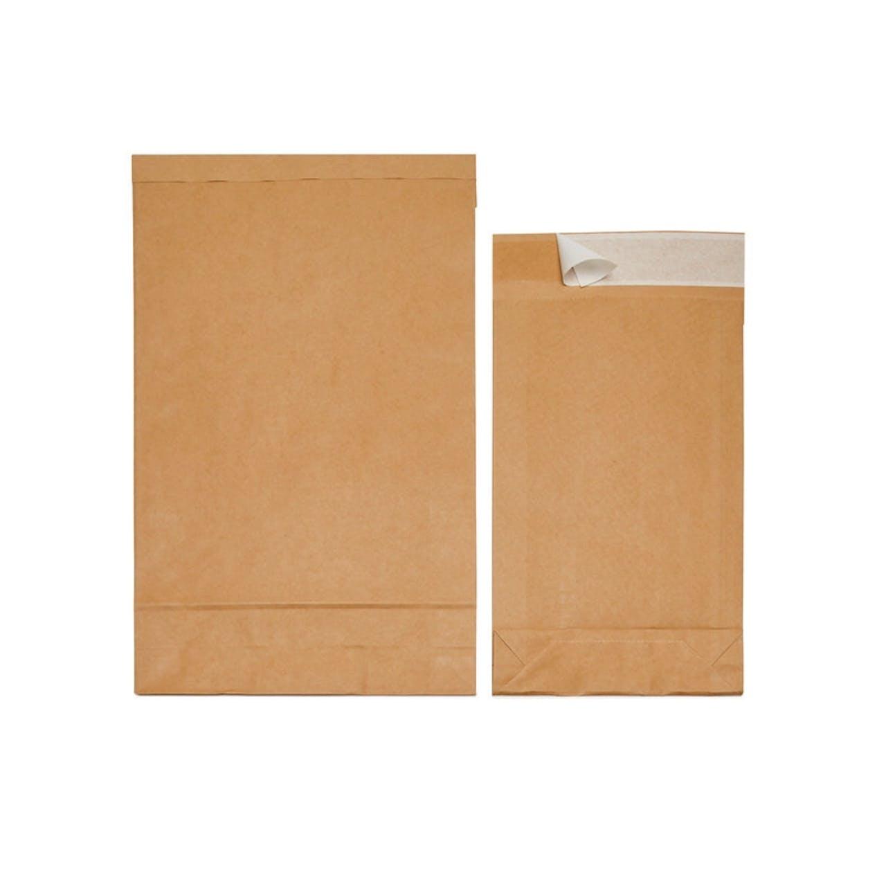 Pochette à soufflets en papier kraft à la soude, Var: MF6