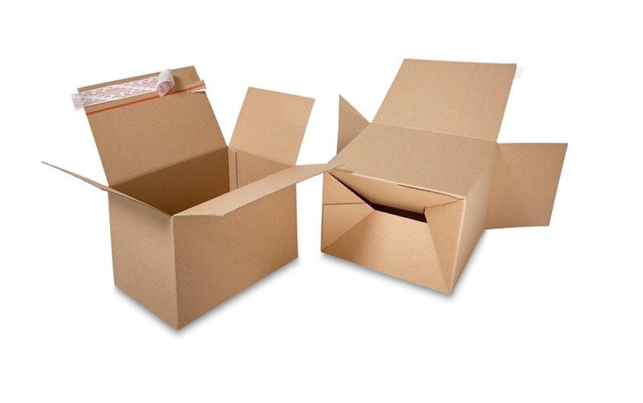 Caisse carton à fond automatique ECONOMY avec fermeture autoadhésive