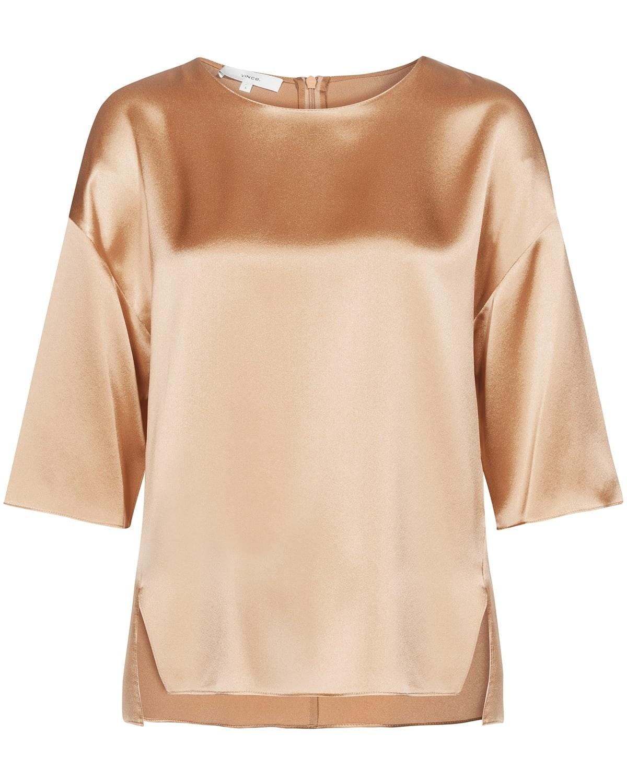 Vince, Seide, silk, Shirt, Spring-Summer Collection 2019, Bronze, Lodenfrey, Munich