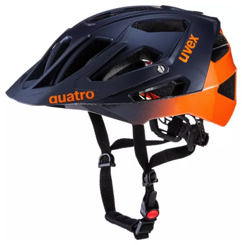 uvex quatro Fahrradhelm blau orange