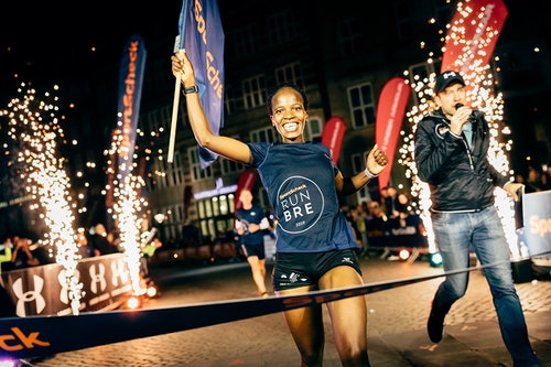 Gewinnerin beim SportScheck RUN in Bremen
