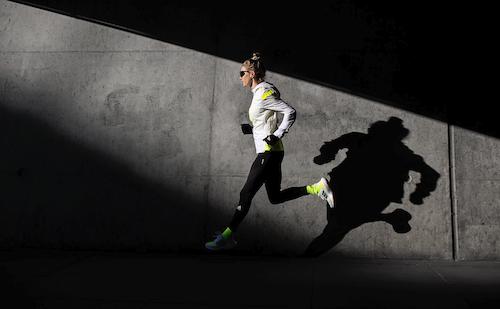 Läuferin mit adidas Ultra Boost 21