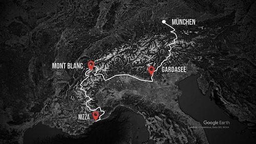 Alpenüberquerung XXL - Route