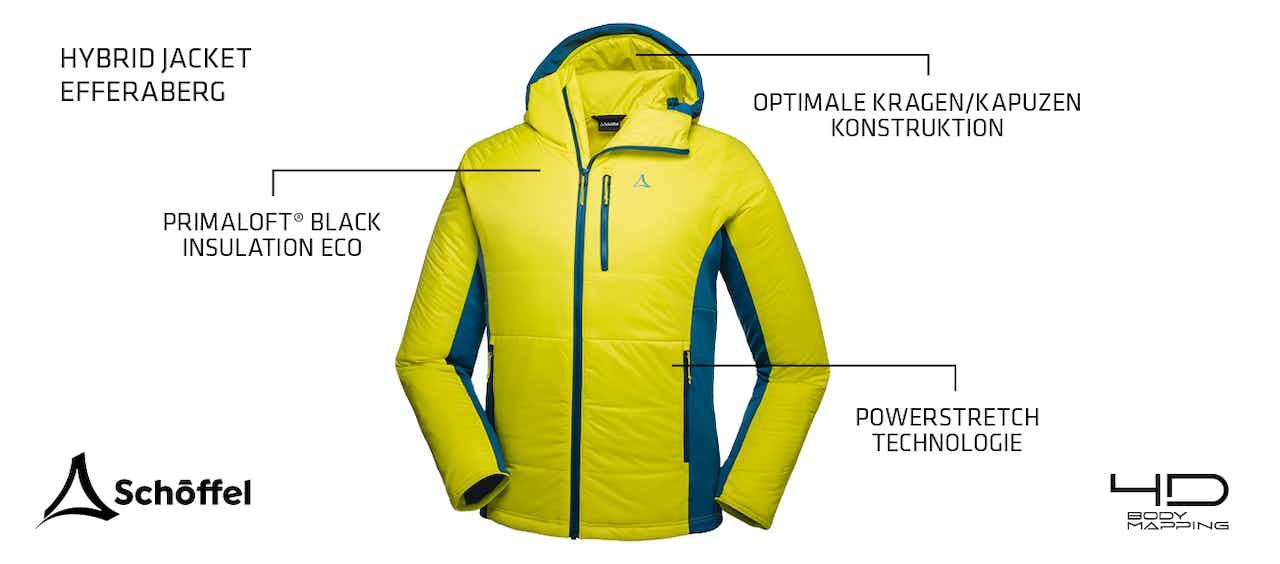 Hybrid Jacket Efferaberg Schöffel Bodymapping