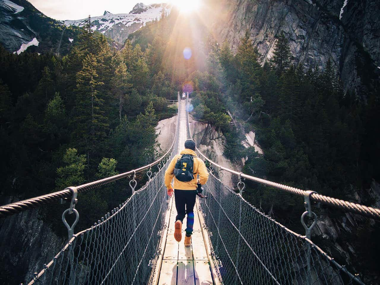 Brücke Berge Outdoor Abenteuer