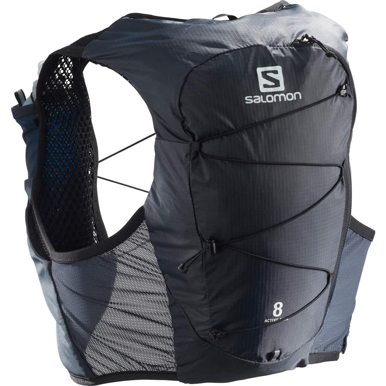 Salomon ACTIVE SKIN 8 SET-Ebony-Black- Trinkrucksack