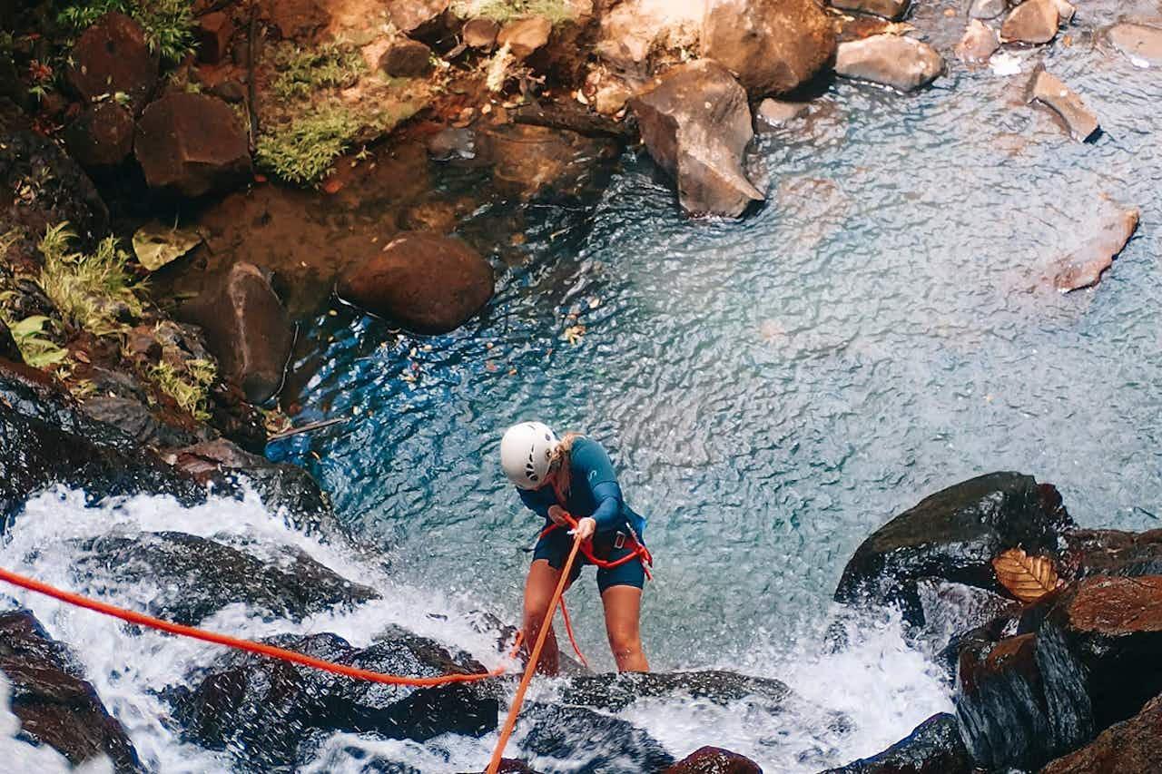 Canyoning auf Guadeloupe