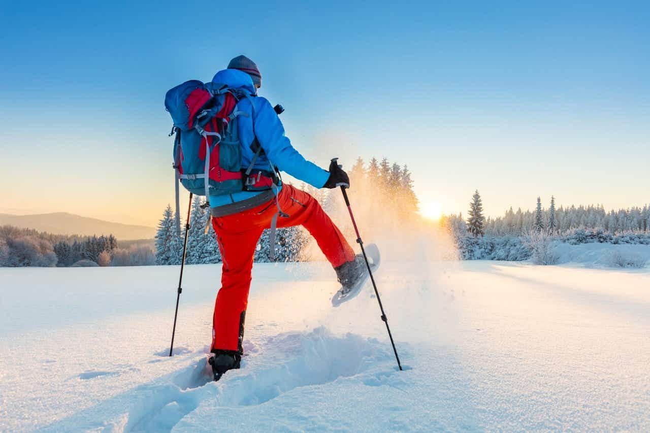 Schneeschuhwanderung Sonnenaufgang