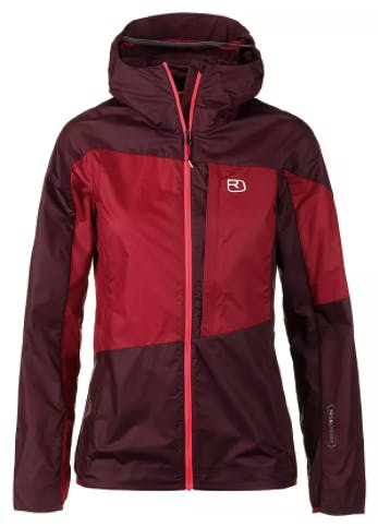 Ortovox Merino Windbreaker Damen Red Vine