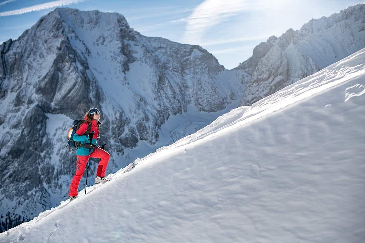 Aufstieg bei der Skitour