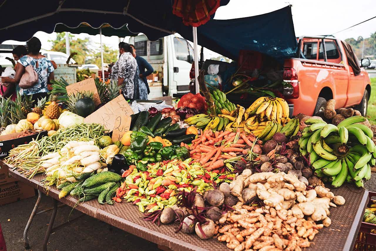 Markt auf Guadeloupe