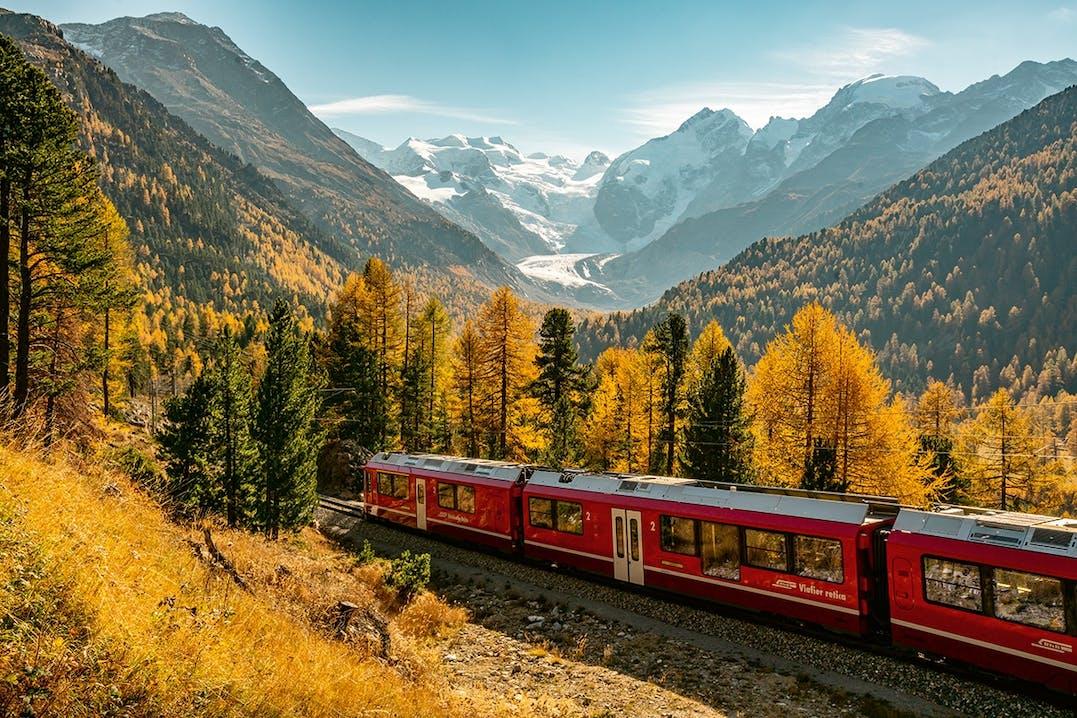Rhätische Bahn Schweizer Alpen
