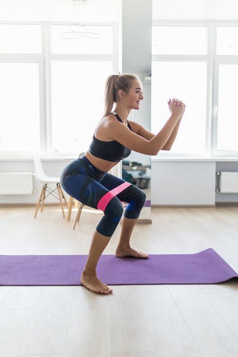 Gymnastikbänder für ein effektives Home Workout