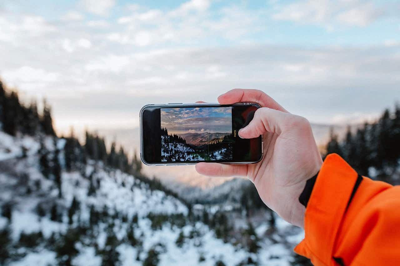 Fotgrafieren beim Winterwandern