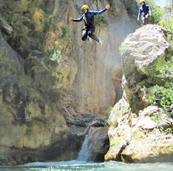 Canyoning in Andalusien