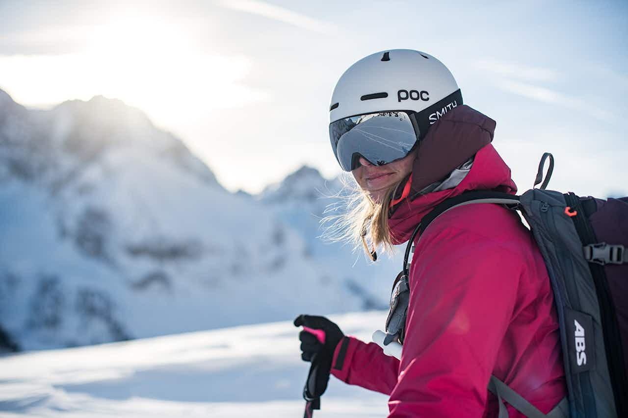 Abfahrt bei der Skitour