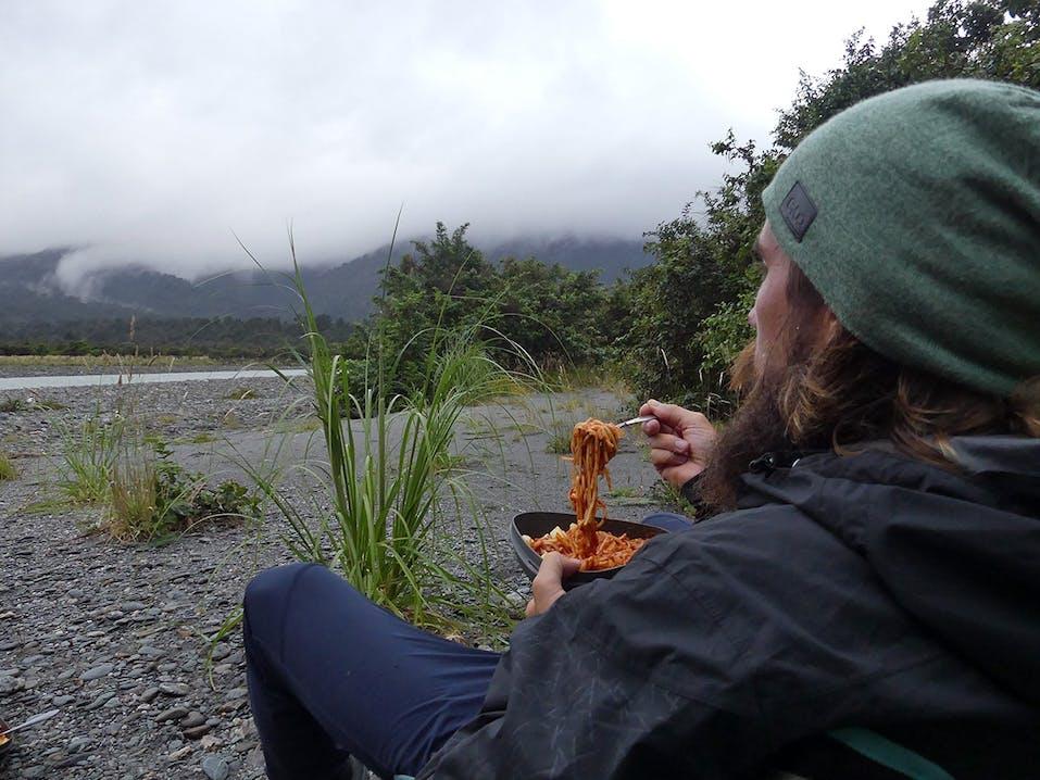 Pause bei den Pasta Gorillas