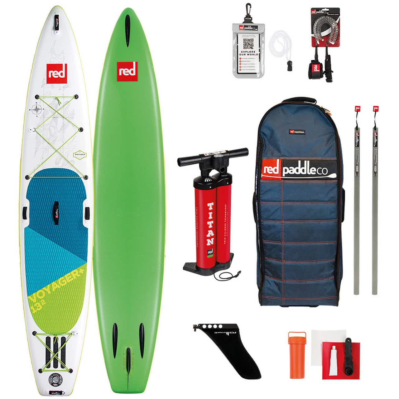 """Red Paddle VOYAGER+ SET 13'2"""" x 30"""" x 6"""" SUP Board"""