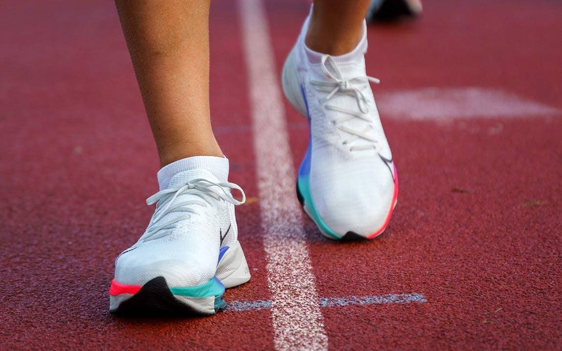Nike Zoom Air Tempo Next% auf der Tartanbahn