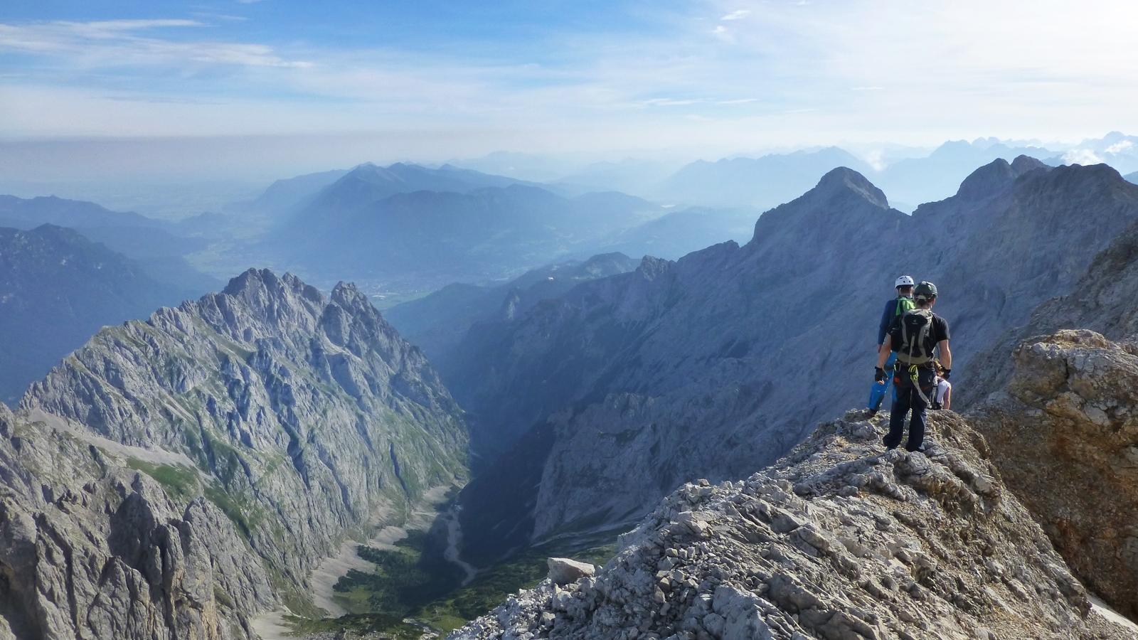 Jubiläumsgrat Klettersteigset : Auf dem jubiläumsgrat