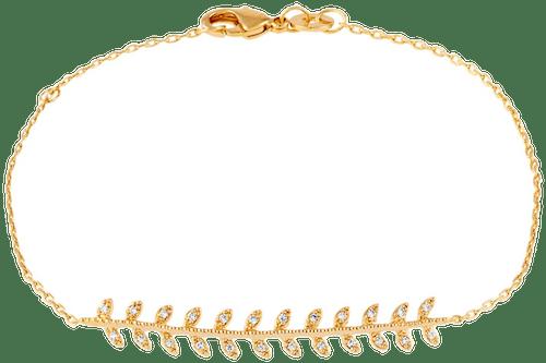 Bracelet CLEOR Plaqué Or Oxyde Blanc