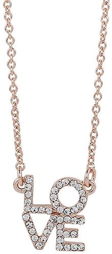 A la pointe de la tendance joli collier rosé maille forçat avec pendentif love serti de brillants blancs. Longueur max 40cm, possibilité de raccourcir gràce à la chaînette.