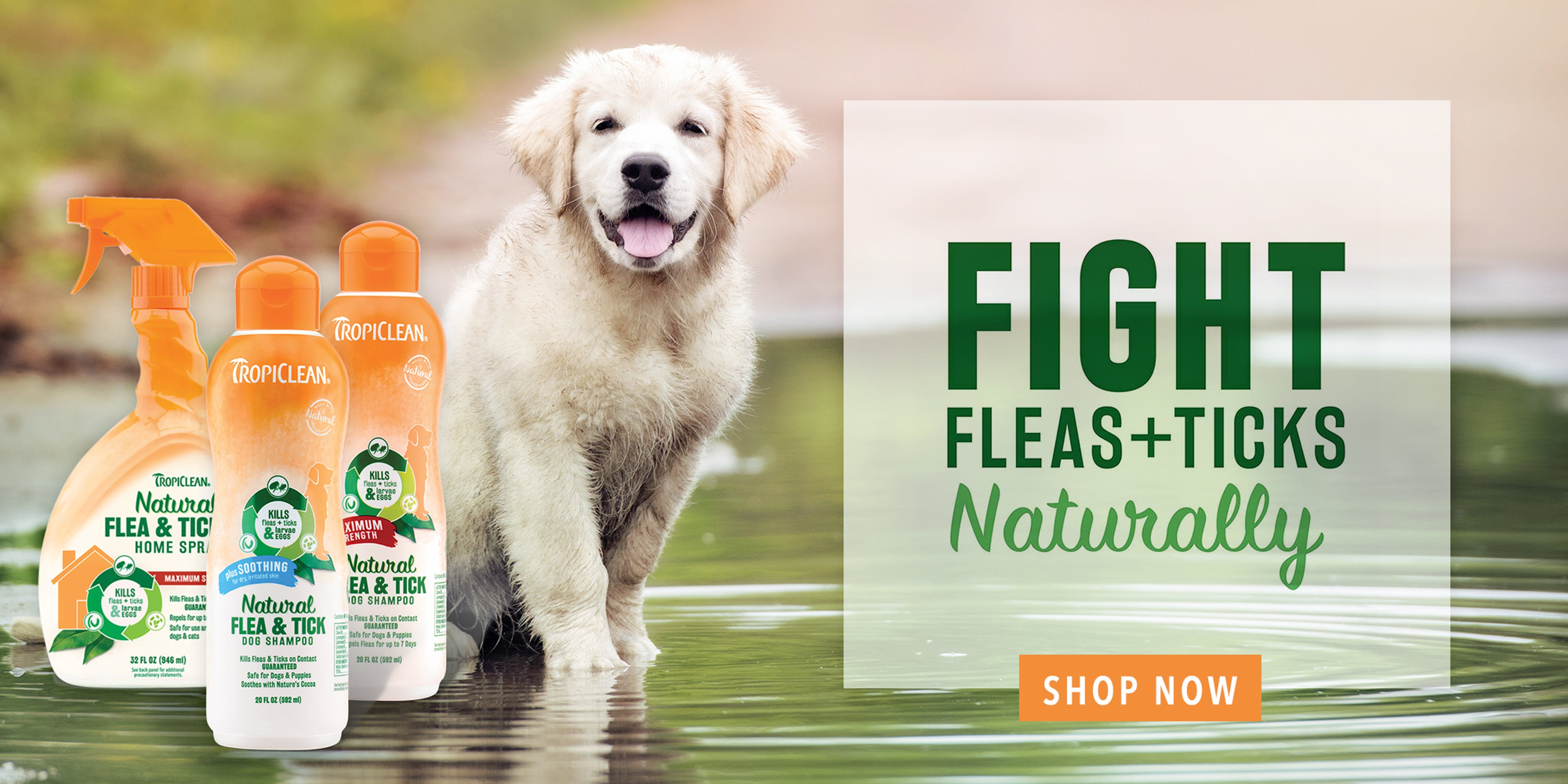 Tropiclean Flea and Tock products
